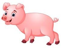 Kleines Schwein sind glücklich lizenzfreie abbildung