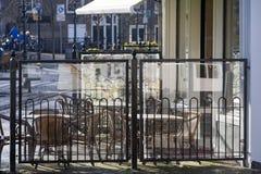 Kleines Straßenrestaurant im Freien lizenzfreies stockbild