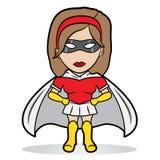 Kleines Superheldmädchen Lizenzfreies Stockfoto