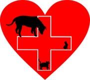 Kleines Tierpflege-Hilfen-Zeichen Stockbild