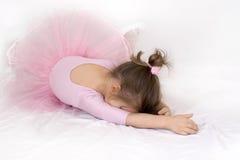 Kleines trauriges Ballerinamädchen Lizenzfreie Stockfotos