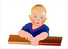 Kleines trauriges Kind Stockbild