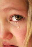 Kleines trauriges Mädchen Lizenzfreies Stockbild