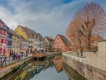Kleines Venise in Colmar stockfotos