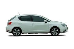 Kleines weißes Auto Stock Abbildung