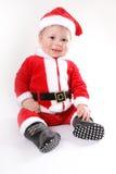 Kleines Weihnachtsmann-Schätzchen lizenzfreie stockfotos