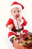 Kleines Weihnachtsmann-Schätzchen stockfotografie