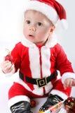 Kleines Weihnachtsmann-Schätzchen stockbilder