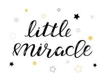 Kleines Wunderbaby-Beschriftungszitat, Kinder entwerfen vektor abbildung