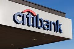Kleinhandels de banktak van Citibank Citibank is de afdeling van de consument van de financi?le diensten multinationale Citigroup royalty-vrije stock foto