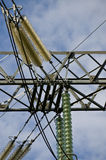 Kleinhandels elektrische pyloon stock foto's