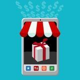 Kleinhandels Mobiel Aankooppictogram Stock Fotografie