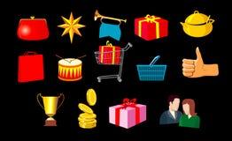 Kleinhandels pictogrammen Stock Afbeelding