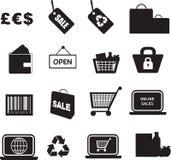 Kleinhandels pictogramreeks Royalty-vrije Stock Foto's