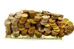 Kleinigheid en dollar Stock Foto