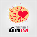 Kleinigkeit nannte Liebe (Samenzellen und Eierstock) Lizenzfreie Stockfotos