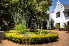 Kleinkaap Hotel in Centurion South Africa. Pretoria, South Africa, 11 February - 2019: Exterior view of hotel in the cape dutch style stock photo