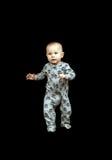 Kleinkind in den Pyjamas lizenzfreie stockfotos