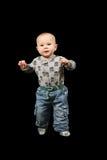 Kleinkind in den Pyjamas lizenzfreie stockbilder