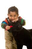 Kleinkind-Pflegenspielzeug-Haustier Stockfoto