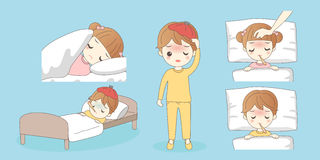 Kleinkinder haben ein Fieber vektor abbildung
