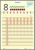 Kleinkinder lernen, Zahlen, Hausarbeit zu schreiben für Kinder Lizenzfreies Stockbild