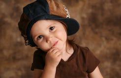 Kleinkindmädchenformung Lizenzfreies Stockfoto