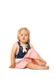 Kleinkindmädchengefühl ungewiß Lizenzfreie Stockfotos