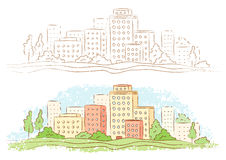 Kleinstadt Lizenzfreie Stockbilder