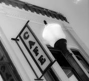 Kleinstadt-Café-Zeichen-lokales städtisches Restaurant-Restaurant lizenzfreie stockfotografie