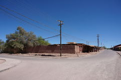 Kleinstadt in der Atacama-Region von Chile Lizenzfreies Stockbild