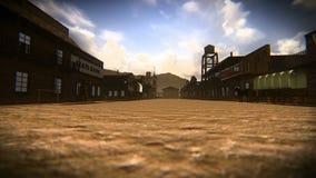 Kleinstadt des alten Westens lizenzfreie abbildung