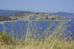 Kleinstadt in Griechenland Lizenzfreies Stockfoto