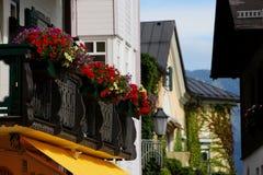 Kleinstadt im Salzkammergut See-Bezirk Lizenzfreie Stockbilder