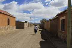 Kleinstadt, San Cristobal, Eduardo Alveroa, Uyuni Bolivien, Lizenzfreies Stockfoto