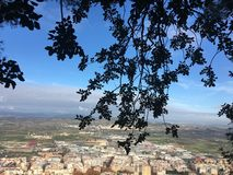 Kleinstadt in Spanien stockfotografie