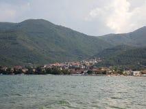 Kleinstadt von Stavros, Griechenland stockbilder
