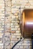 Kleintraktor Bier in einer Kneipe Stockbild