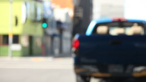 Kleintransporter in der Stadt