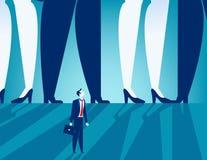 Kleinunternehmer, der unter großen Geschäftsleuten steht Konzept stock abbildung