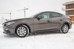 Kleinwagen Mazda 3 Lizenzfreie Stockfotos