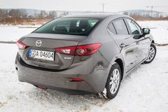 Kleinwagen Mazda 3 Stockfotos