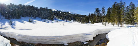 Kleinwalsertal. Winter sports and recreation area Royalty Free Stock Images