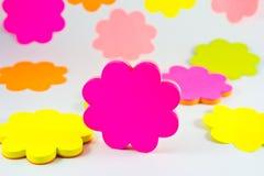 kleiste kolorowe notatki Zdjęcia Stock
