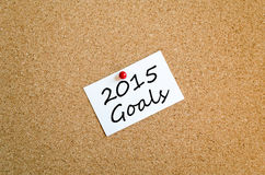 Kleisty notatki 2015 celów pojęcie Fotografia Royalty Free