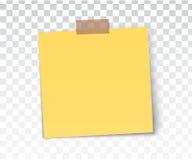 Kleistych przypomnienie notatek realistyczny barwiony papier ciąć na arkusze biurowych papiery z cieniem Zdjęcie Stock