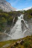 kleivafossen водопад Норвегии гор Стоковое Изображение RF