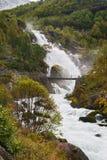 kleivafossen gór Norway siklawę Obraz Royalty Free