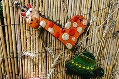 Kleivormen door kinderen 4 worden geschilderd die Royalty-vrije Stock Afbeelding