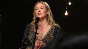 Klejnot Wykonywał Niektóre Jej Wielcy uderzenia Dla iHeartRadio Żywego W Nowy Jork Obrazy Royalty Free